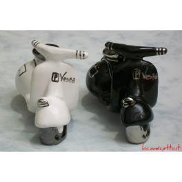 Vespe colore bianco nero offerta regalo in ceramica argento
