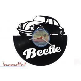 Beetle la mitica auto Volkswagen realizzata su disco in vinile orologio da parete