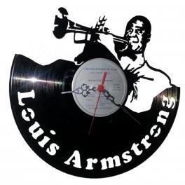 Louis Daniel Armstrong orologio vinile vinil clock