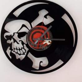 Teschio 2 orologio Clock Vinyl vinile 33 giri lacornicetta
