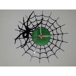 Spider il ragno tela premium orologio vinile Clock top Vinyl