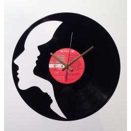 Tre Volti disco orologio in vinile da parete design arte top arredo