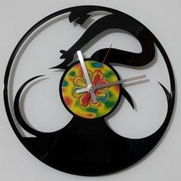 Bici start orologio su vinile 33 giri realizzato Clock Vinyl