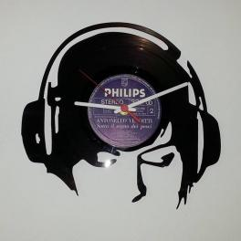 Dee Jay cuffie disco orologio in vinile top Clock Vinyl da parete realizzato a mano