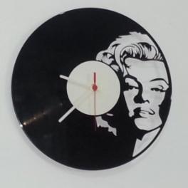 Marilyn Monroe disco vinile 33 giri top orologio da parete Clock vinyl