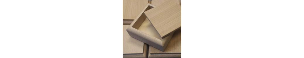 Scatole contenitori in legno essenza faggio forme misure